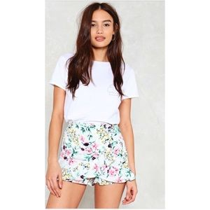 Nasty Gal floral shorts